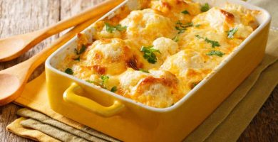 cauliflower with bechamel